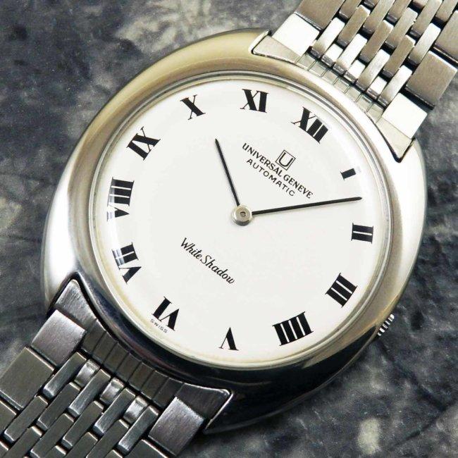 UNIVERSAL(ユニバーサル)ホワイト シャドウ アンティーク 時計 メンズ