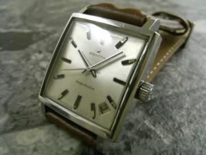 ゼニス 角形 アンティーク 手巻き ニューヴィンテージ 1965 原型タイプ 希少時計:画像1