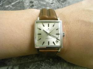 ゼニス 角形 アンティーク 手巻き ニューヴィンテージ 1965 原型タイプ 希少時計:画像3