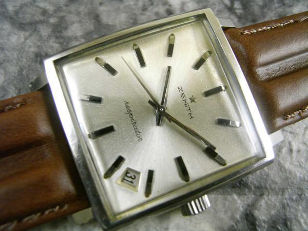 ゼニス 角形 アンティーク 手巻き ニューヴィンテージ 1965 原型タイプ 希少時計